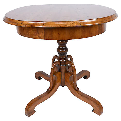 19th-C. Louis Philippe Center Table