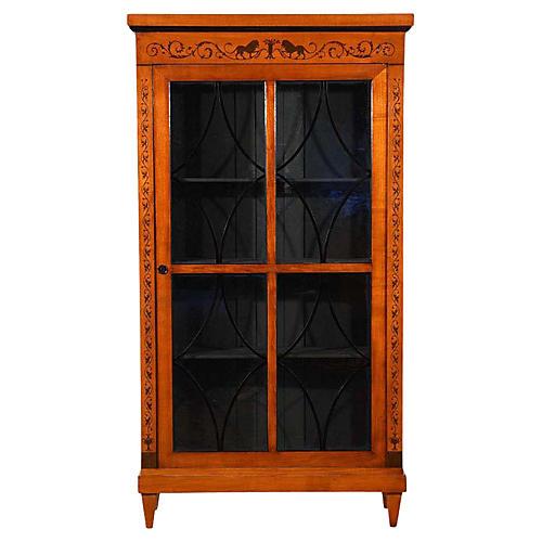 Antique Biedermeier-Style Bookcase