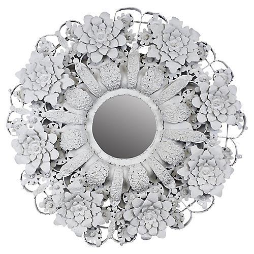 Arte de Mexico Circular Tole Mirror