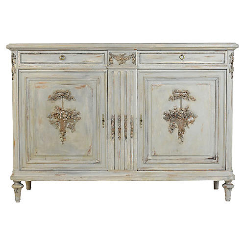 French Louis XVI-style Painted Buffet