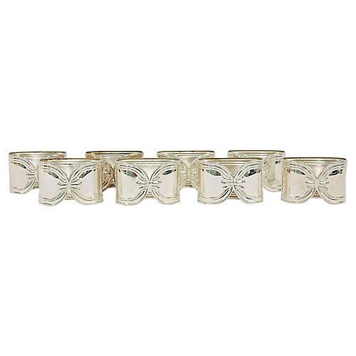 Sterling Silver Napkin Holders, S/8