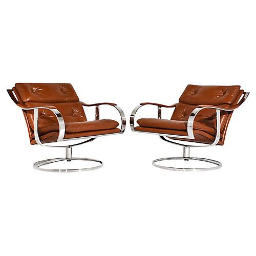 Pair of Gardner Leaver Lounge Chairs