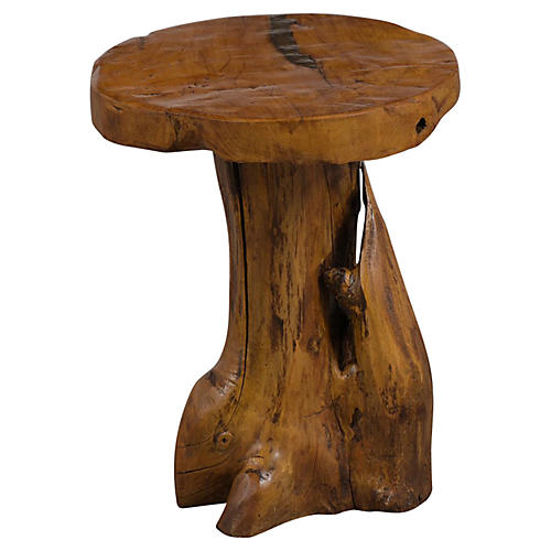 Circular Top Tree Root Side Table