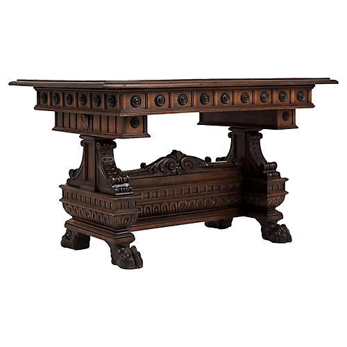 Italian Renaissance-style Library Table