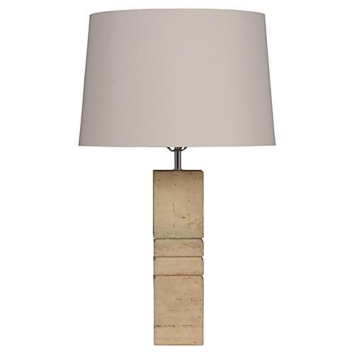 Modern Travertine Table Lamp