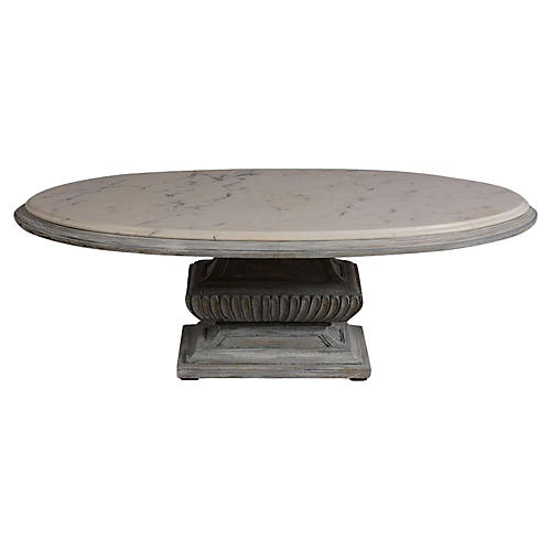 Vintage Oval Cocktail Table