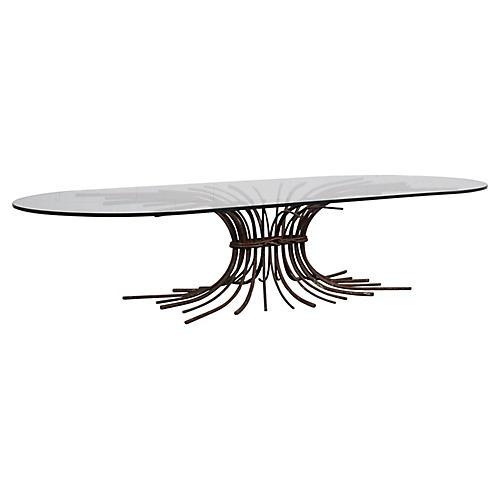 """Vintage """"Tree"""" Sculpture Coffee Table"""