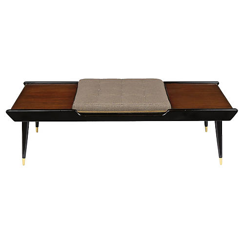 Mid-Century Modern Style Rosewood Bench