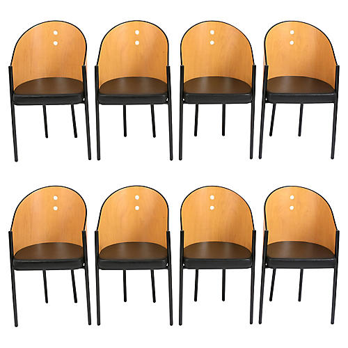 Set of Eight Vintage Barre Dining Chairs