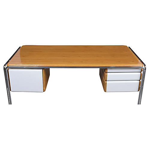 Modern White Lacquered Desk