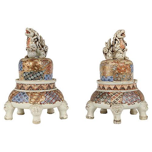 Pair of Chinese Ceramic Figurines