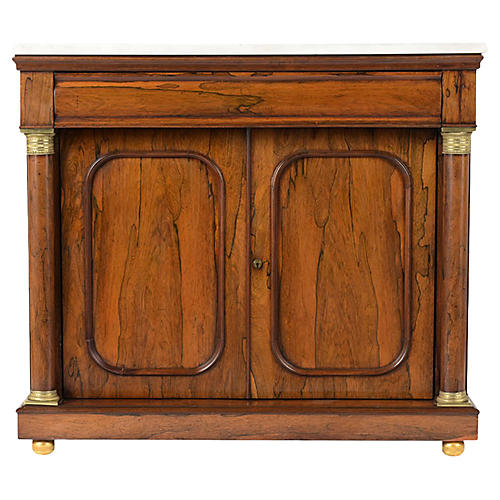 French Antique Empire Rosewood Server