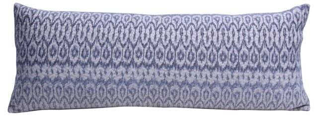 Gray Ombre Ikat Pillow