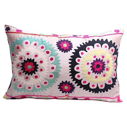 Beige Suzani Pillow