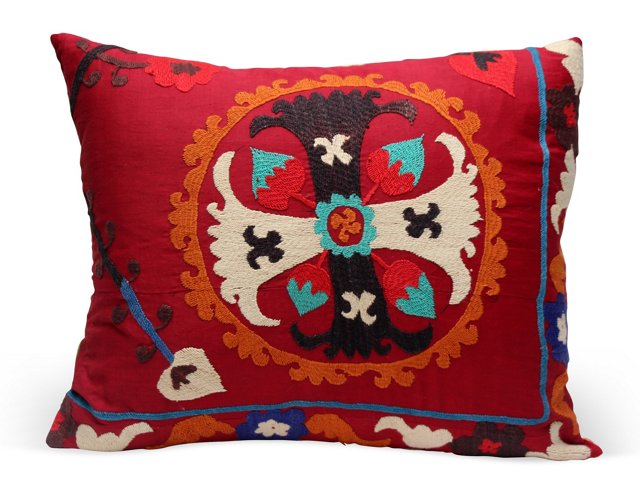 Antique Cross Suzani Pillow