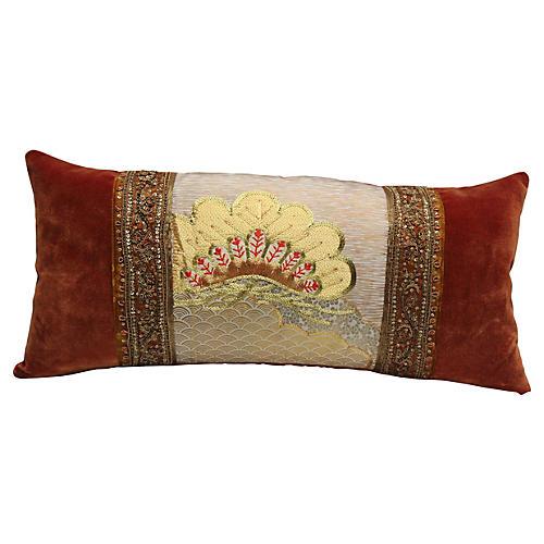 Golden Obi Velvet Pillow