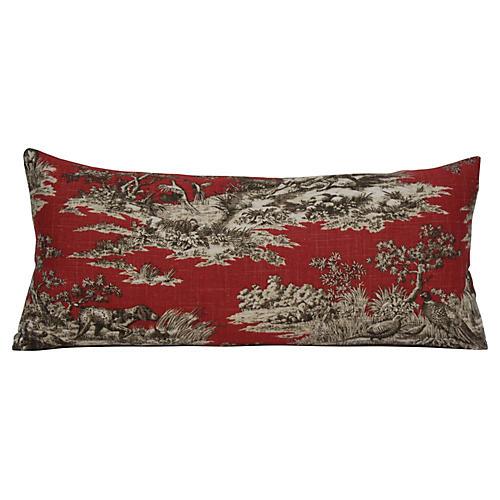 Persimmon Toile Pillow