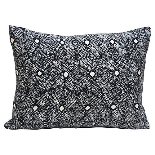 Black Shibori Pillow