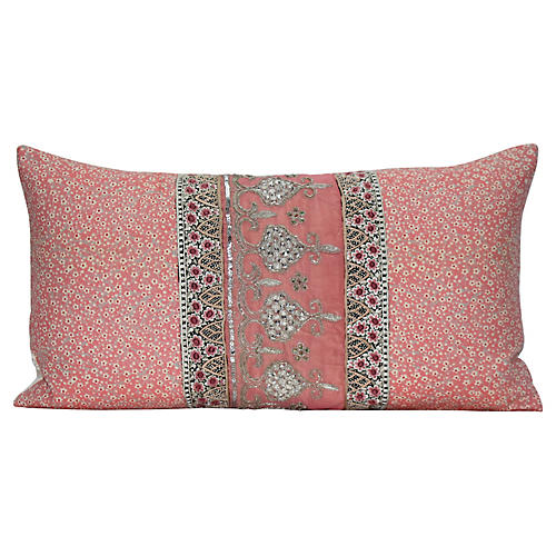 Japanese & Indian Textile Pillow