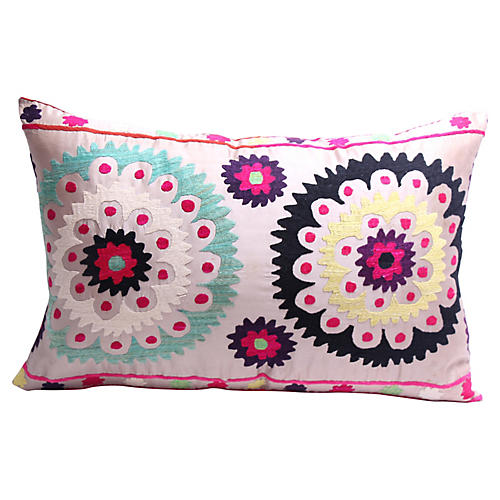 Pale Gray Tribal Pillow