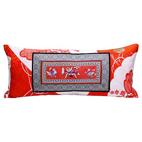 Chinese Embroidered & Kimono Pillow