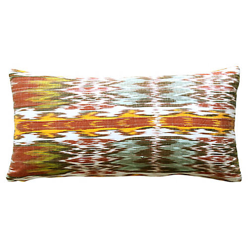Uzbek Ikat Pillow