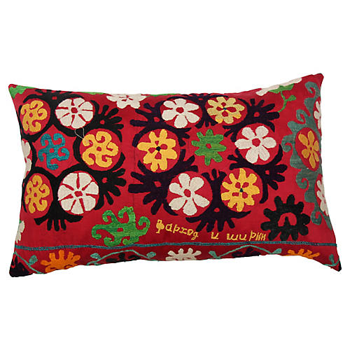 Red Suzani Pillow