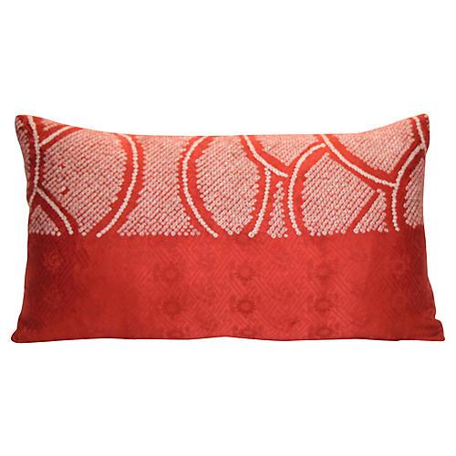 Red Shibori Pillow
