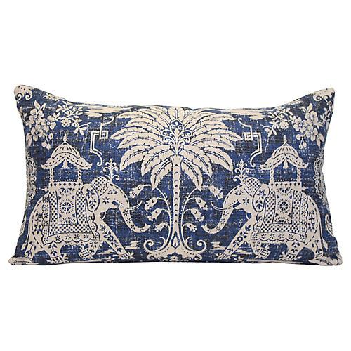 Navy Elephant Pillow