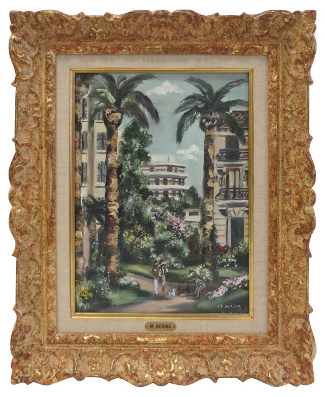 Cityscape w/ Palm Trees   by M. Bering