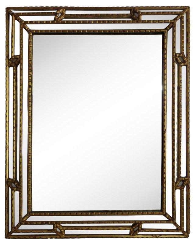 Italian Stepped Gilt Framed Mirror