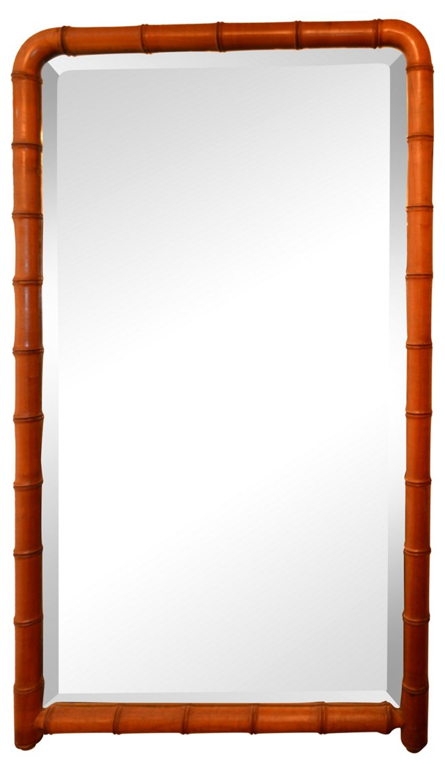 Faux-Bamboo Mirror
