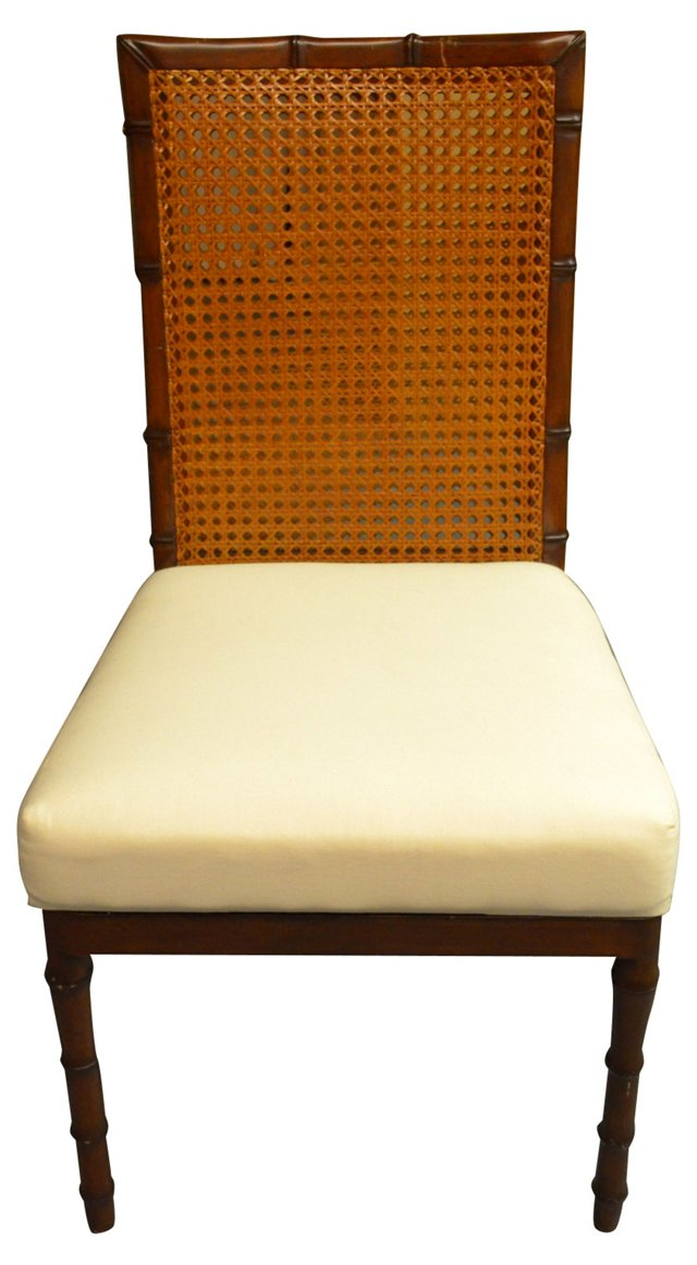Faux-Bamboo Chair w/ Cane