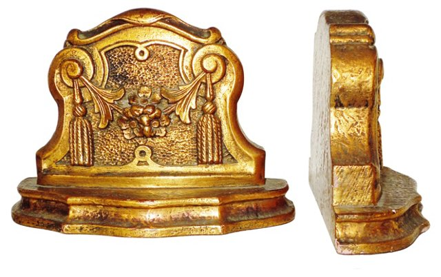 Giltwood Bookends