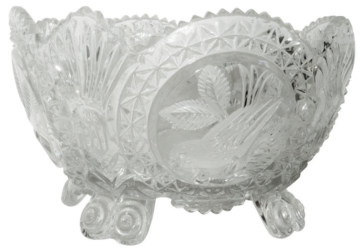 Etched Bird Bowl