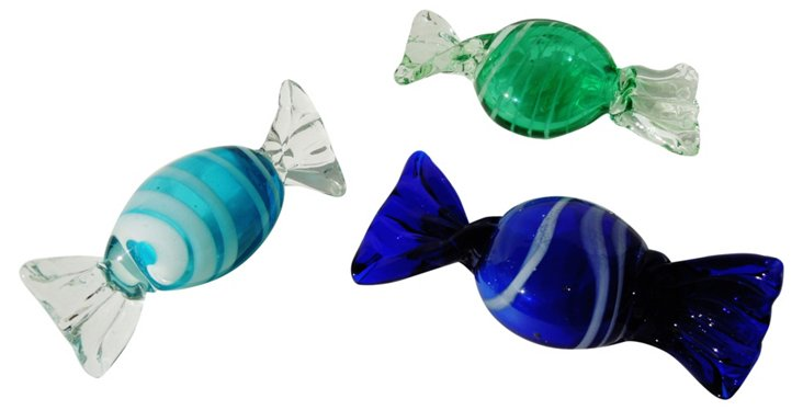 Art Glass Candies, S/3