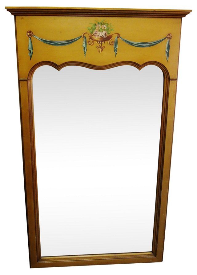 Hand-Painted French Mirror