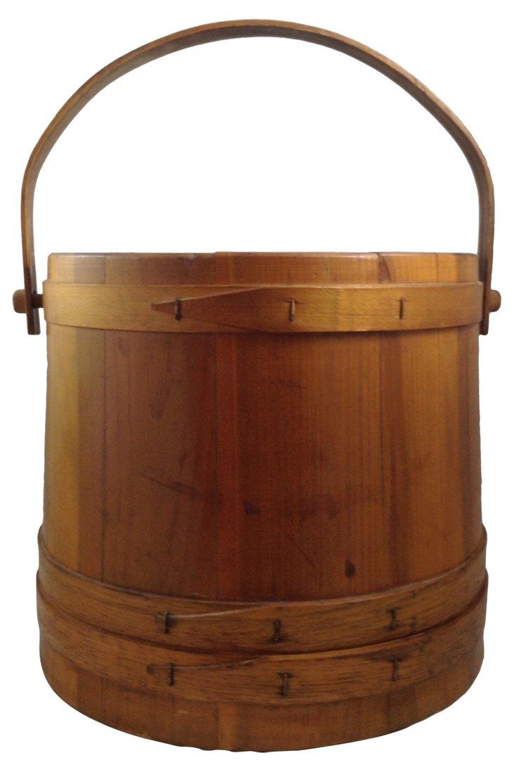 Shaker-Style Wood Bucket