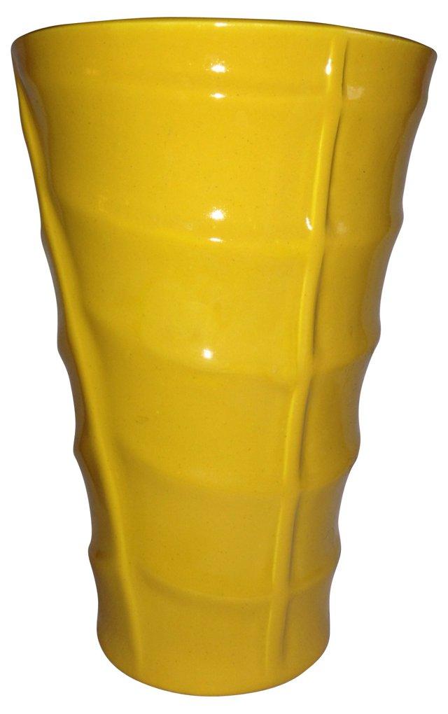 Yellow Bauer Pottery Vase
