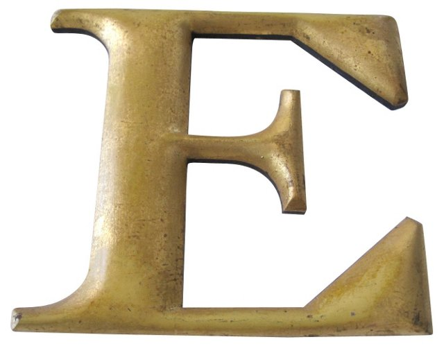 Antique Gilt Letter E
