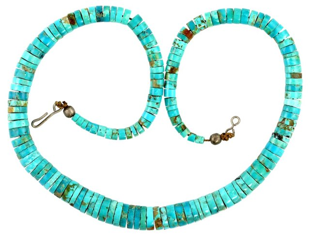 Pueblo Indian Turquoise Necklace