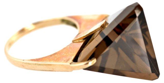Midcentury Citrine Ring