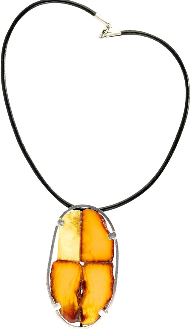 Baltic Amber Slice Necklace