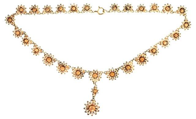 Silver Filigree Sunflower Necklace