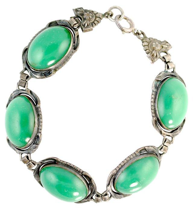 Art Nouveau Silver Bracelet