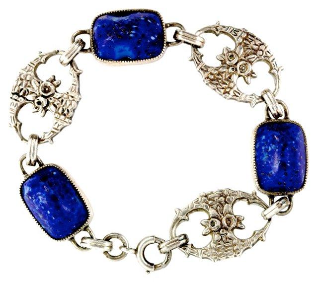 Art Nouveau Venetian Glass Bracelet