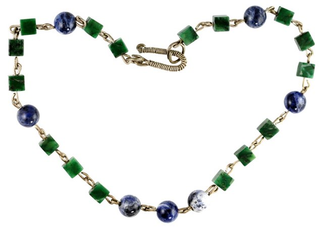Moss Agate & Sodalite Necklace