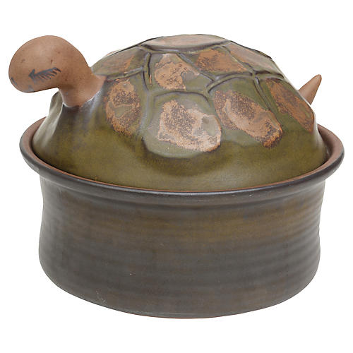 Ceramic Turtle Lidded Box