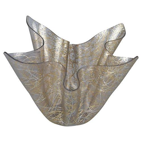 Plastic Bowl w/ Gold & Silver Tinsel