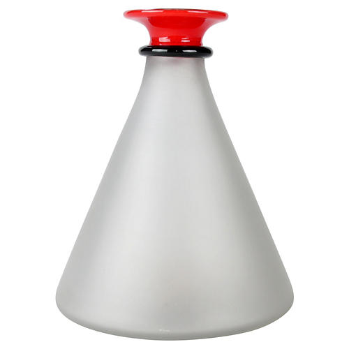 Signed Handblown Frosted Glass Decanter